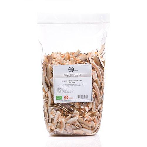Kokos smil ristede økologiske fra Biogan - 500 gr
