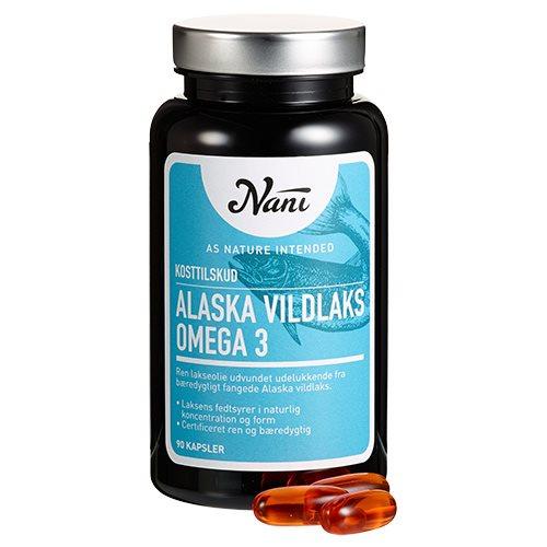 Omega 3 Alaska vildlaks olie fra Nani - 90 kpsl