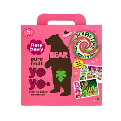Image of Bear Yoyo multipak hindbær pure fruit - 5x20 gram