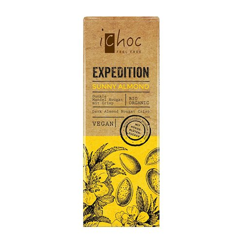 Image of Ichoc Mandel og Nougat vegansk øko chokolade 50 gr