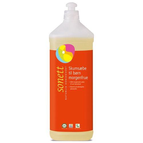 Image of Skumsæbe til børn morgenfrue refill - 1 liter