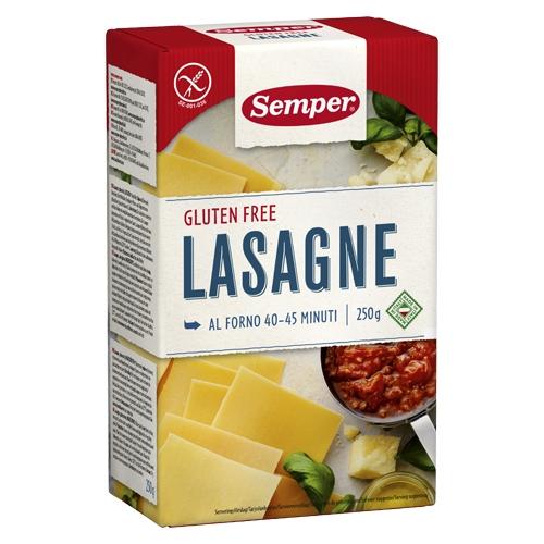 Image of   Lasagneplader glutenfri fra Semper - 250 gram