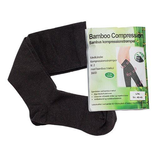 Image of Bamboo Pro kompressionsstrømper kl. 2 Str. L-XL