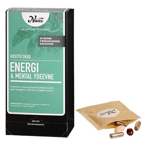 Image of   Energi mental ydeevne helsepakke fra Nani 30 breve