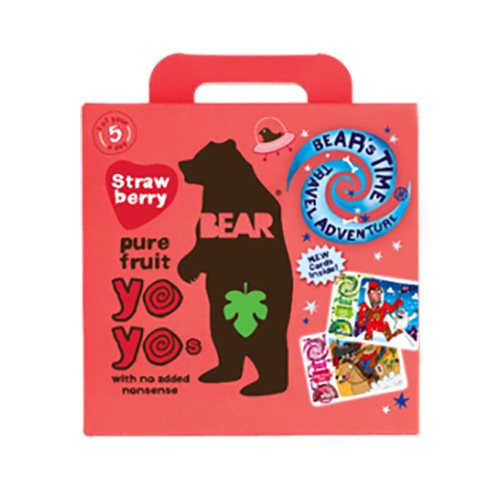Image of Bear Yoyo multipak jordbær pure fruit 5x20 gram