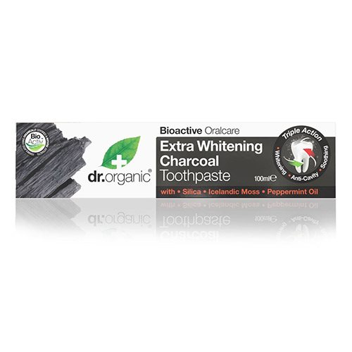 Image of   Dr. Organic Tandpasta Extra Whitening Charcoal