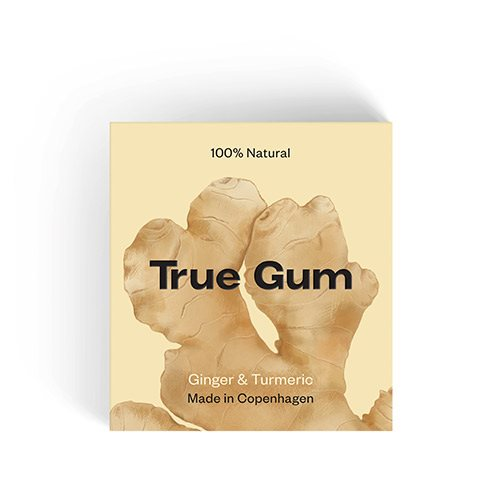 Image of   True Gum Tyggegummi Ginger & Turmeric (20 g)