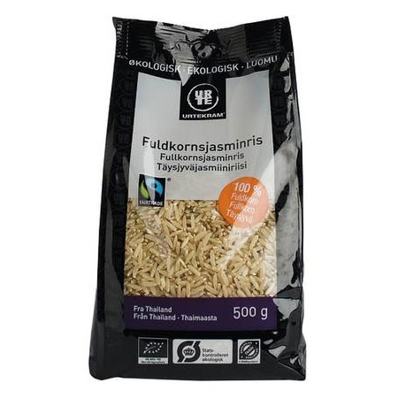 Image of Jasmin ris brune Fair Trade Økologisk - 500 gram