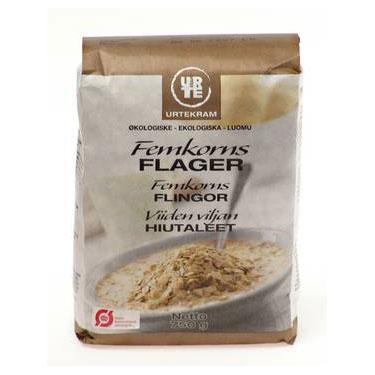Femkornsflager Økologisk - 750 gram