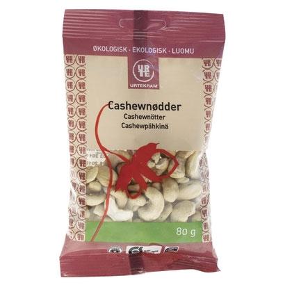 Cashewnødder hele Økologiske - 80 gram