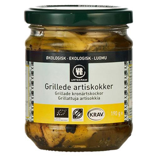Image of   Artiskokker grillede i olie økologisk - 190 gram