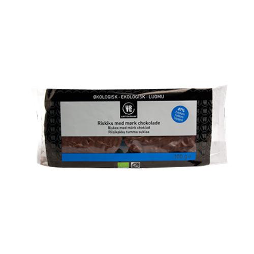 Riskager mørk chokolade Fair Trade - 100 gram