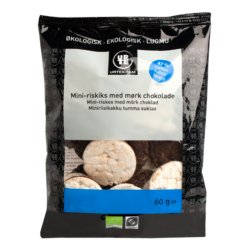 Riskager Mini mørk choko Fair Trade - 60 gram