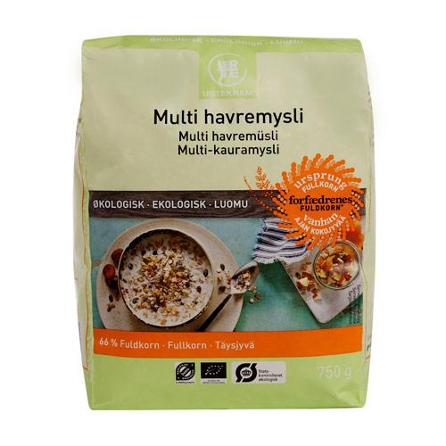 Image of   Havremysli multi fra Urtekram Økologisk - 750 gram