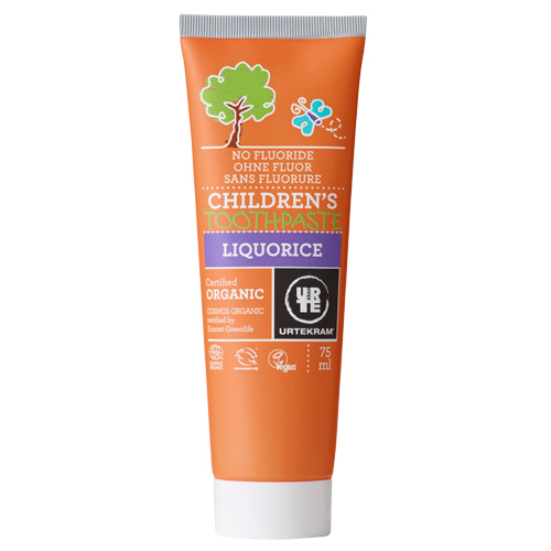 Image of   Tandpasta u. flour til børn lakrids Lavera 75 ml.