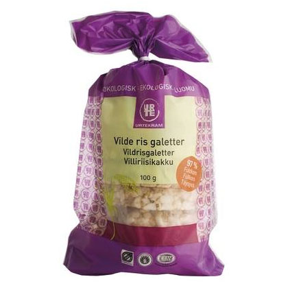 Risgaletter vilde ris fra Urtekram Øko - 100 gram