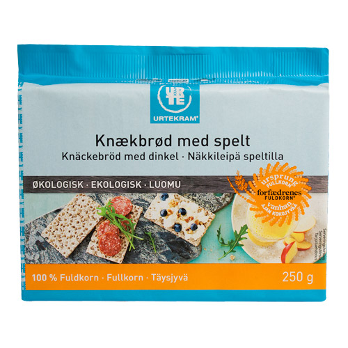 Image of Fuldkornsknækbrød med spelt Urtekram Ølo - 250 gr