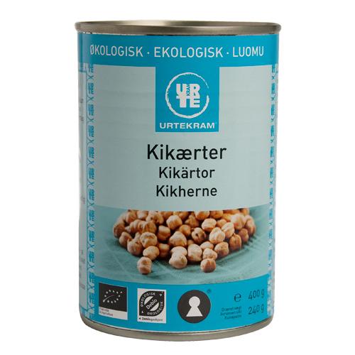 Image of   Kikærter på dåse fra Urtekram Øko - 400 gram