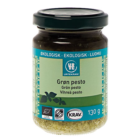 Image of Pesto grøn økologisk fra Urtekram - 130 gram
