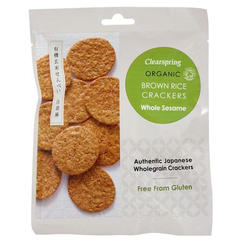 Rice Cracker sesame Clearspring Øko - 40 gram