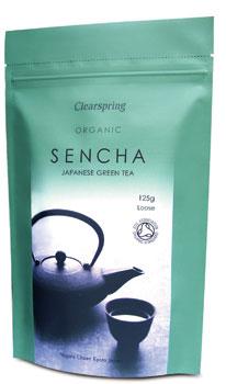 Sencha grøn te fra Clearspring Økologisk - 125 gr.