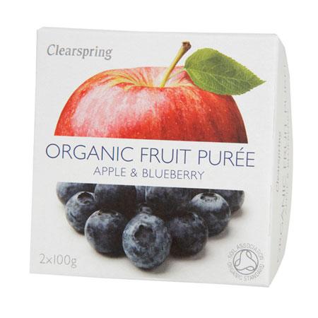 Image of Frugtpuré Blåbær og æble Økologisk - 200 gram