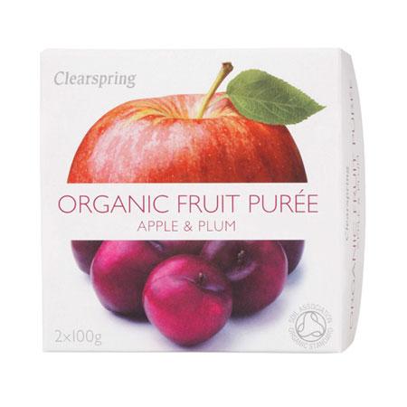 Image of Frugtpuré Blomme og æble Økologisk - 200 gram