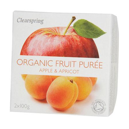 Image of Frugtpuré Abrikos og æble Økologisk 200 gram
