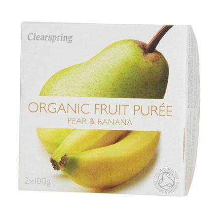 Image of Frugtpuré Banan og pære Økologisk - 200 gram