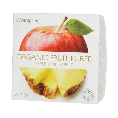 Image of Frugtpuré Ananas og æble Økologisk - 200 gram