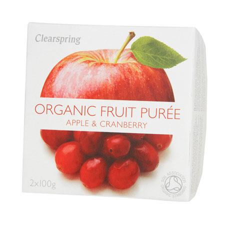 Frugtpuré Æble og tranebær Økologisk - 20 gram