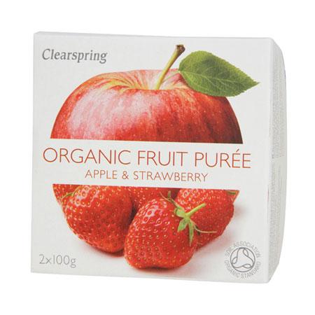 Image of Frugtpuré Æble og jordbær Økologisk - 200 gram