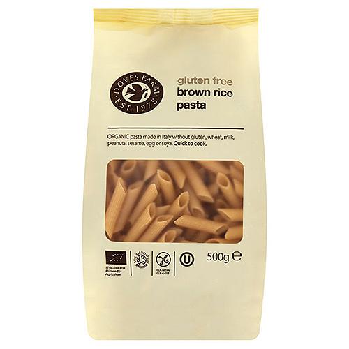Image of   Brun ris pasta penne glutenfri - 500 gram