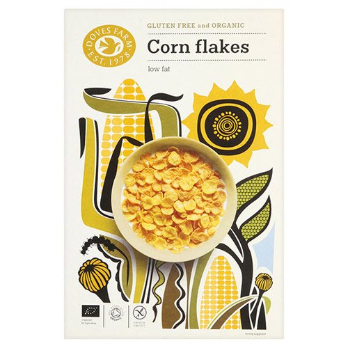 Image of Cornflakes glutenfri Økologiske fra Doves - 375 gr