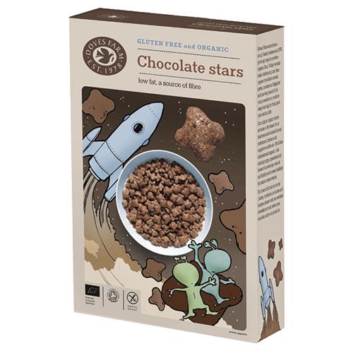 Image of Chokolade stjerner Øko glutenfri - 375 gram