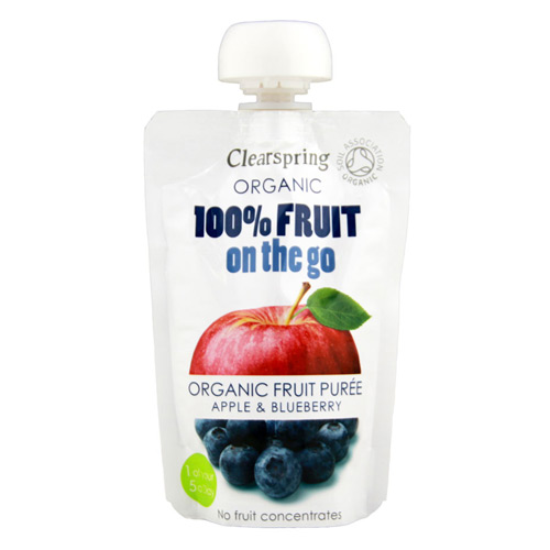 Image of 100% Fruit on the go æble & blåbær Ø - 120 gram.