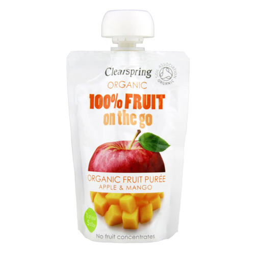 Image of   100% Fruit on the go æble & mango Ø - 120 gram.