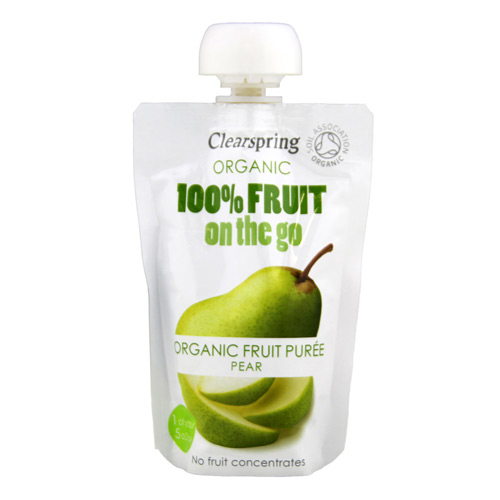 Pære fruit on the go Clearspring Øko - 100 gram