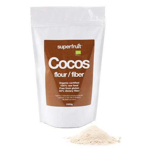 Kokosmel med fiber økologisk - 1 kg.