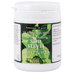 Sød Stevia grønt pulver - 50 gram