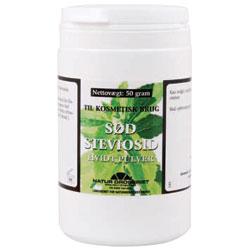 Sød Steviosid 50 gram hvidt pulver.