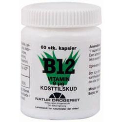 Image of B12 vitamin 9 ug Natur Drogeriet - 60 kapsler