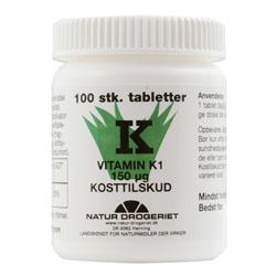 Image of K vitamin 150 ug - 100 tabletter