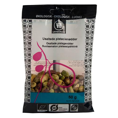 Pistacienødder økologiske fra Urtekram - 50 gram