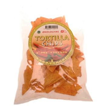 Tortillachips med paprika Økologiske - 125 gram