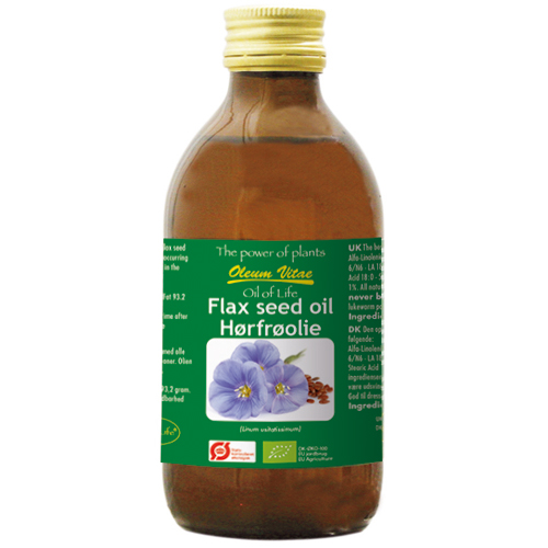 Oil of life ren hørfrøolie Økologisk - 250 ml.
