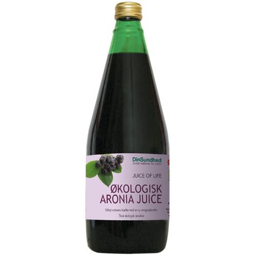 Aronia saft med sukker Økologisk - 700 ml.