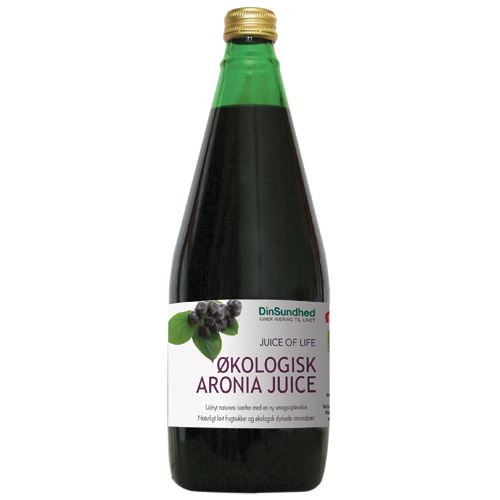 Aronia saft uden sukker Økologisk - 700 ml.