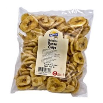 Image of Bananchips af tørrede bananer øko - 200 gram