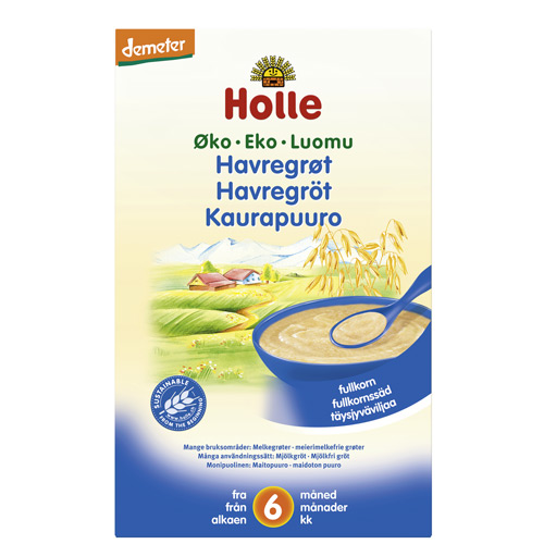 Image of Holle Havregrød økologisk fra 6 måneder 250 gram